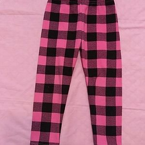Carter's pink and black checkered sweatpants
